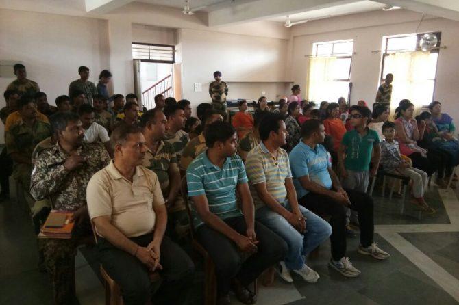 Dr: Avadhesh Narayan Khare health talks camp in BSF Academy Bhopal