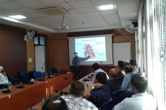 Dr. Avadhesh Narayan Khare health talks camp at GST Bhawan